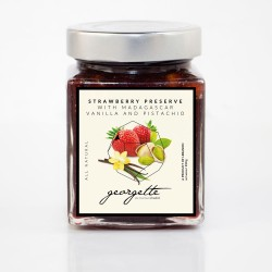 Strawberry Preserve with Madagascar Vanilla and Pistachio